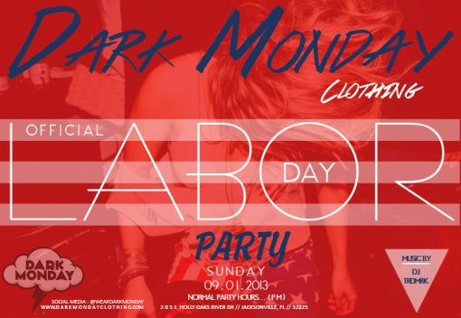 DARK MONDAY CLOTHING LABOR DAY AD